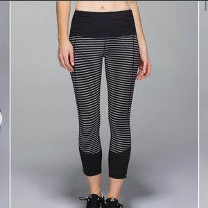 Lululemon Parallel Stripe Runday Tights Crop 7/8
